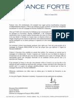 Lettre à P Moscovici