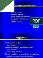 useOfDexmedetomidine