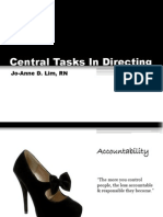Central Tasks in Directing