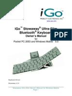 Stowaway Ultra-Slim for PPC5 Owner Manual_US