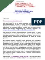 HISTOIRE DE BULL ET DE L INFORMATIQUE FRANÇAISE APRÈS L AFFAIRE BULL DE 1964
