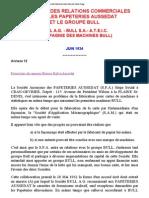 Historique Des Relations Commerciales Entre Les Papeteries Aussedat Et Le Groupe Bull Juin 1934