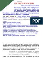 François Paturle PAPIER POUR CARTES STATISTIQUES de 1932 à 1939