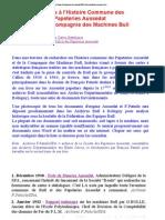 Alain.aussedat - Annexes à l'Histoire Commune des Papeteries Aussedat et de la Compagnie des Machines Bull