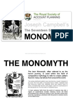 19224168 Joseph Campbells MONOMYTH the Seventeen Stages Presented by the Royal Society of Account Planning