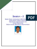 Introduction ECG Measurement K Palani Thanaraj SRM University S2
