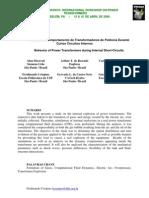 Análise do Comportamento de Transformadores de Potência Durante Curto Circuito Interno
