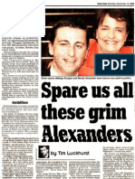 Alexanders - Daily Mail 2006