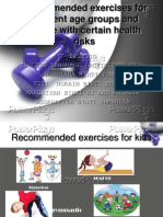 Recommended Exercises for Different Age Groups and People