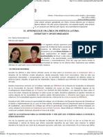 Eduteka - El Aprendizaje en Línea en América Latina  Desafíos y Oportunidades