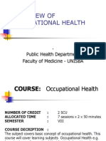 1.1 Overview Occupational Health