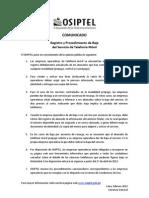 Comunicado de Prensa Baja Del Servicio 2 (2)