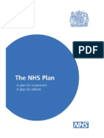 The NHS Plan - A Plan for Investment, A Plan for Reform