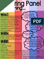 Fostering Panel Training Leaflet