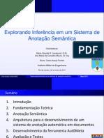 EXPLORANDO INFERÊNCIA EM UM SISTEMA DE ANOTAÇÃO SEMÂNTICA
