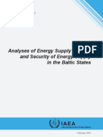 Analyses of Energy Supply Options and Security of Energy
