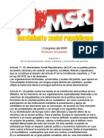 Estatutos del Movimiento Social Republicano