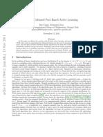 Unbiased Pool Based Active Learning