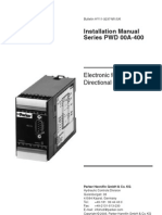 PWD - Electronic for Proportional Directional Control Valves - Installation Manual