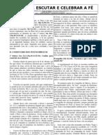 COMENTÁRIO BÍBLICO - 2° DOMINGO DA QURESMA - Ano B