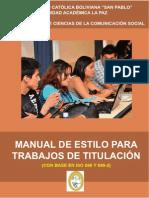 Manual de Estilo, Version 16 de Agosto de 2011
