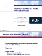 Grain Transportation Demand for the Pacific Northwest 2008-09