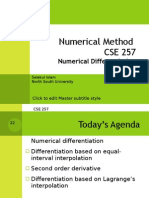 Cse257 06 Numerical Differentiation