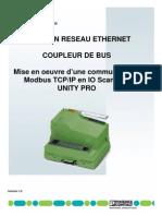 Mise en Oeuvre Modbus TCP IP Et IO Scanning Unity