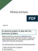 Economics - Market Efficiency and Equity