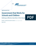 Government that Works for Schools and Children
