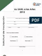Solicitud Premio UANL a las Artes 2012