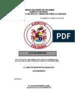 ACTAS DE APERTURA 2012