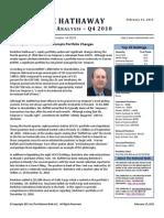 Berkshire 13F Analysis Q4 2010