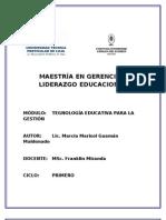 MAESTRÍA TECNOLOGÍA EDUCATIVA 1 AC.DE COMPRENSIÓN