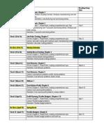 Schedule -Tue Class