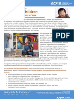 Occupational Therapy For Young Children Birth Through 5 Years of Age