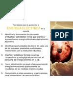 Plan básico para la gestión de la energía eléctrica en la escuela