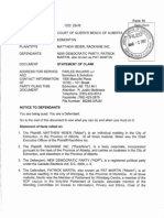 Filed Statement of Claim - Action No. 1203 03498 (3!2!12) (E6148218)