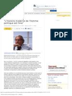 _L'Histoire Moderne de l'Homme Politique Est Finie_ - LeMonde.fr