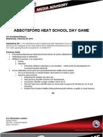 Abbotsford Heat School Day Game