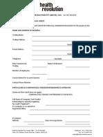 Health Revolution Pty Ltd Credit Application