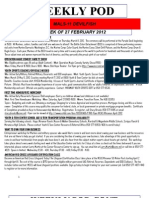 FRO WEEKLY PLAN OF THE DAY, THE WEEK OF 27 FEBRUARY 2012