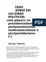 Processo Decisório em Sistemas Políticos, Veto Players no Presidencialismo, Parlamentarismo, Multicameralismo e Pluripartidarismo - George Tsebelis