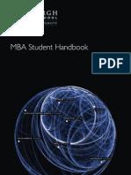 Mba Student Handbook En