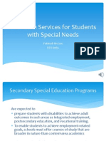 Transition Services for Students With Special Needs