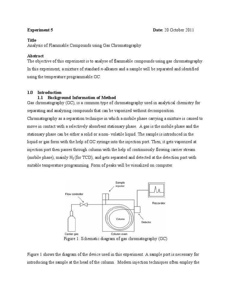 exp5 chromagtography | Gas Chromatography | Chromatography
