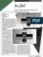 Design - Bolt Design and Avoiding Failure