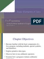 Chapter 2 Basic Elements of Java