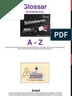 Schreibservice Glossar A - Z