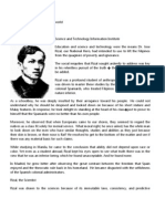 Rizal's Works in Science and Technology